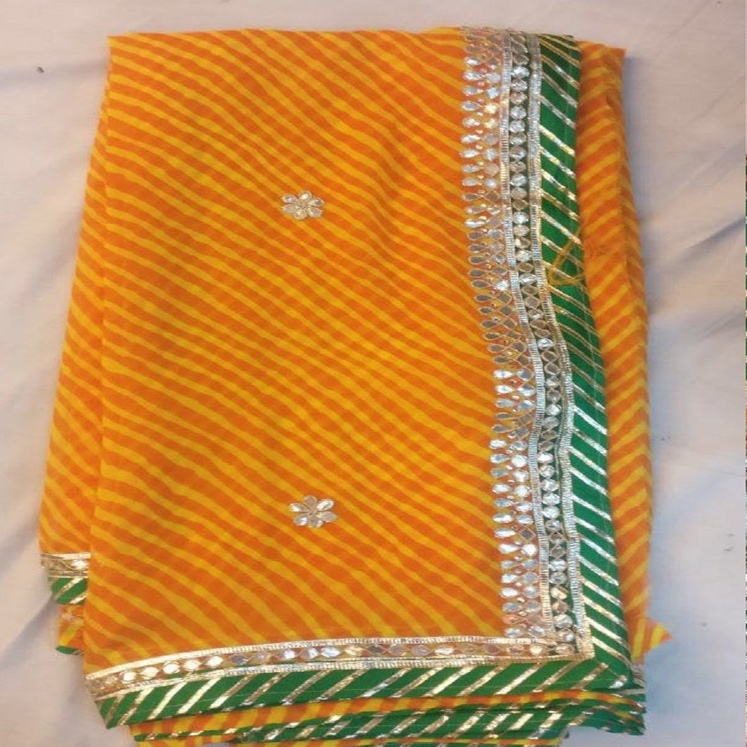 yellow leheriya gota patti saree online,gota patti saree design,Gota patti saree catelogue