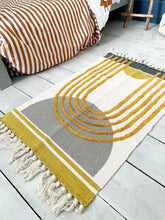 Load image into Gallery viewer, Tufted Yellow And Grey Rug