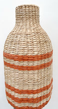 Load image into Gallery viewer, Large Woven Orange Vase