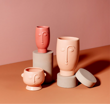 Load image into Gallery viewer, Mini Red Face Vase