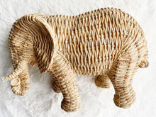 Load image into Gallery viewer, Woven Wicker Ornamental Elephant