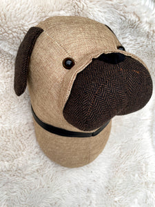 Fabric Wall Mounted Pug Head
