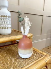Load image into Gallery viewer, Ombré Glaze Brown Mini Vase