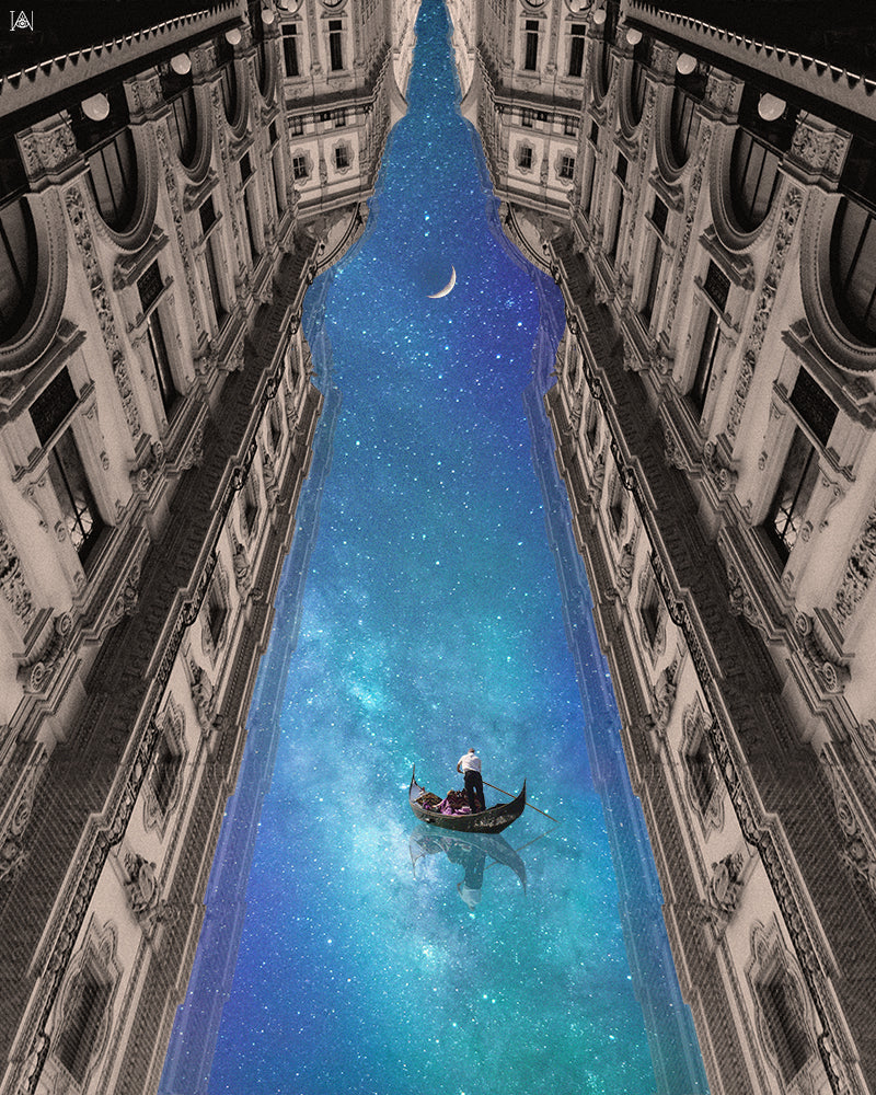 'Floating on Dreams' Art Print