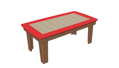 "24""x44"" Bowed Edge Coffee Table"