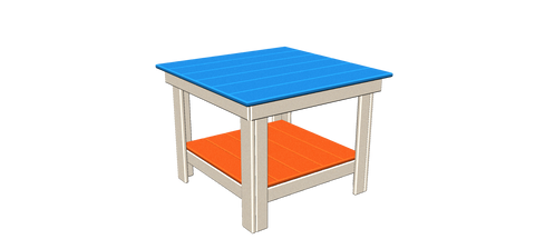 "29"" Square Side Table"