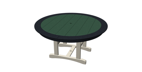 "60"" Round Trestle Table with Border"