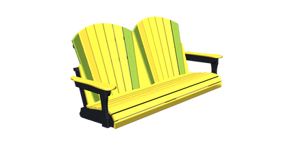 Fan Back Double Porch Swing