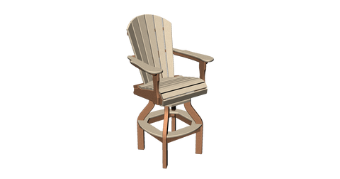 Fan Back Swivel Pub Chair