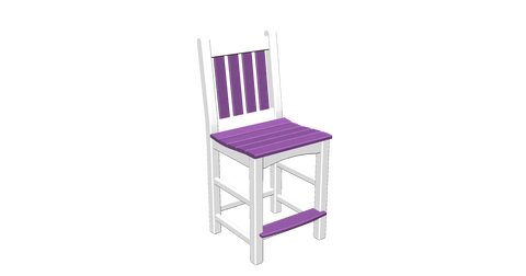 Ladder Back Bar Chair