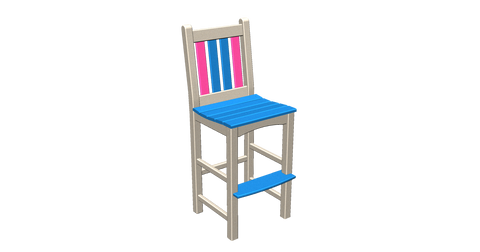 Ladder Back Pub Chair