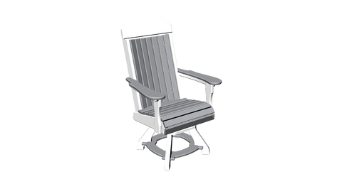 Ranch Style Swivel Dining Chair