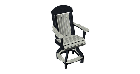 Ranch Style Swivel Bar Chair