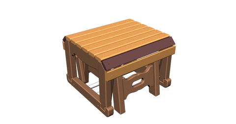 Single Gliding Footstool