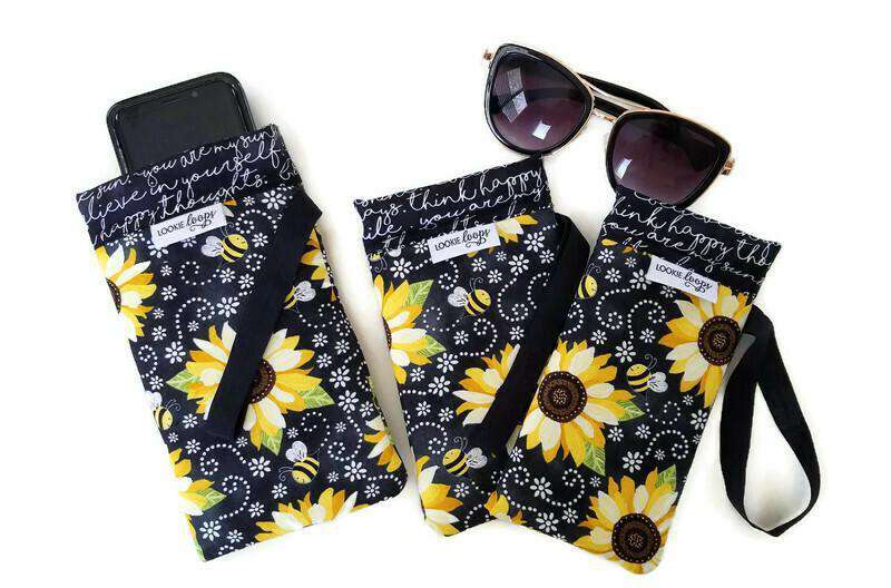 Bee Happy Cell Phone or Sunglass Case
