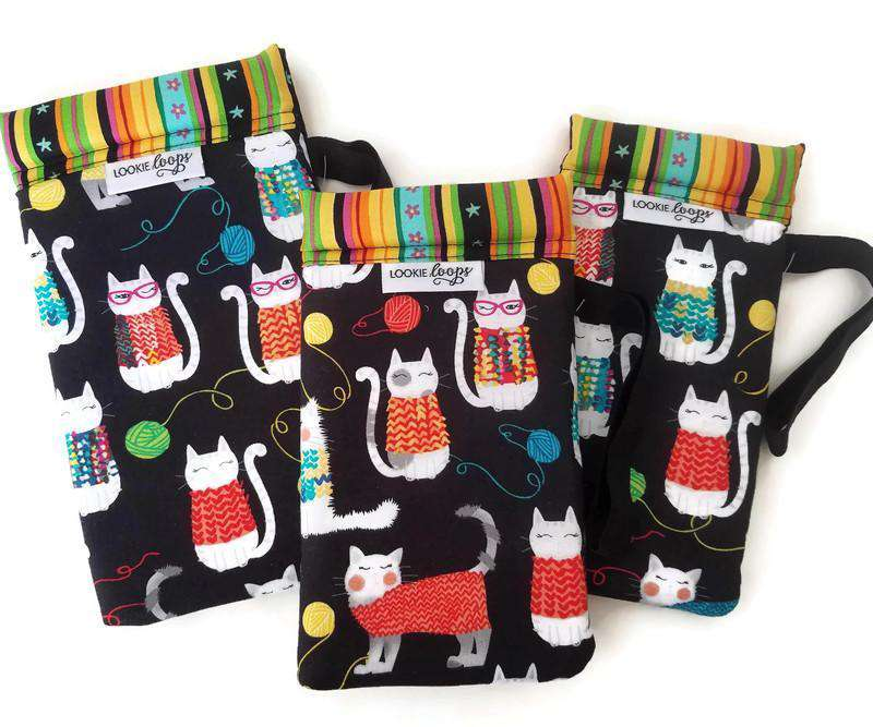 Knit Together Cats Cell Phone or Sunglass Case