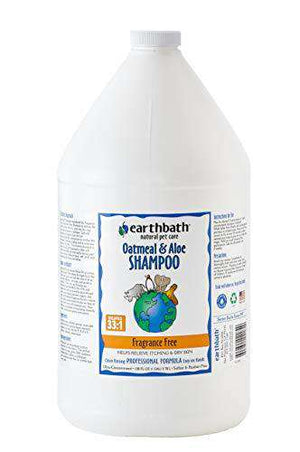 Earthbath Oatmeal and Aloe Shampoo Fragrance Free 1 Gallon