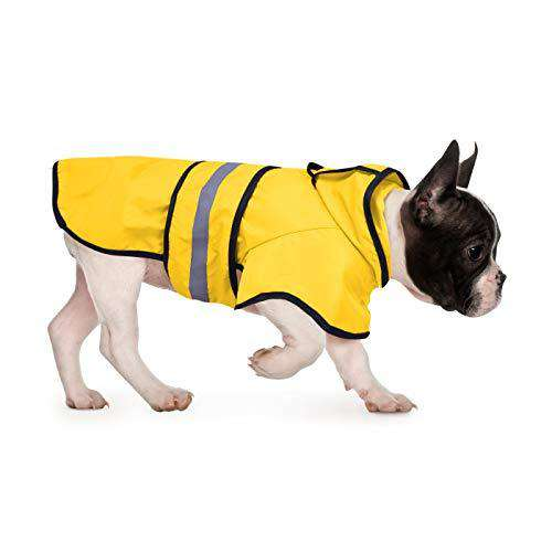 HDE Dog Raincoat Hooded Slicker Poncho for Small to X-Large Dogs and Puppies (Yellow, Medium)