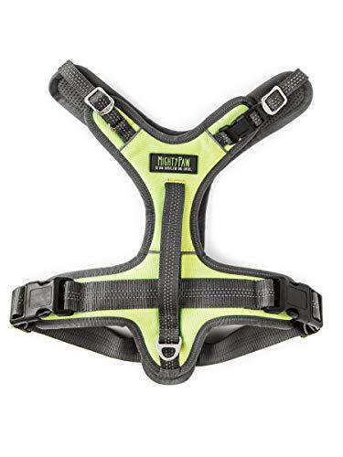 Mighty Paw Sport Harness 2.0, Padded Dog Harness, Adjustable Neck and Chest Straps with Reflective Stitching (X-Large, Green)