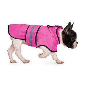 HDE Dog Raincoat Hooded Slicker Poncho for Small to X-Large Dogs and Puppies (Pink, Medium)