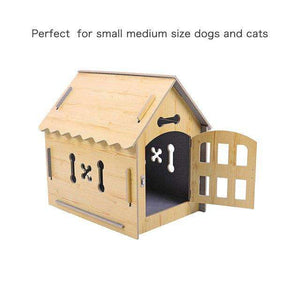 Domestic Delivery Pet Dog Solid Wood House Bed