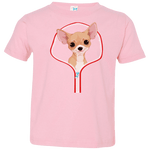 CHIHUAHUA ZIP-DOWN Toddler Jersey T-Shirt