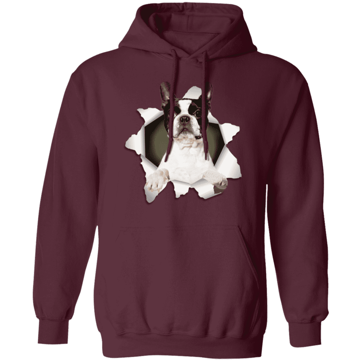 BOSTON TERRIER 3D Pullover Hoodie 8 oz.