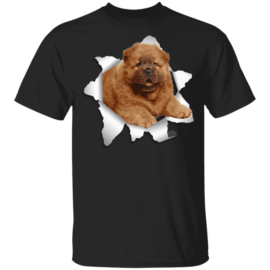 CHOW CHOW 3D Princess 5.3 oz 100% Cotton T-Shirt