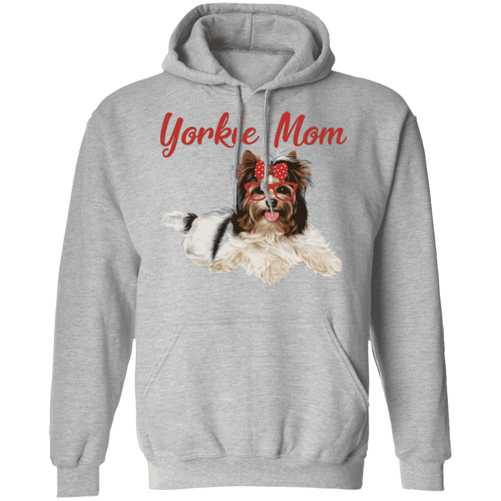 YORKIE MOM LADIES Pullover Hoodie 8 oz.