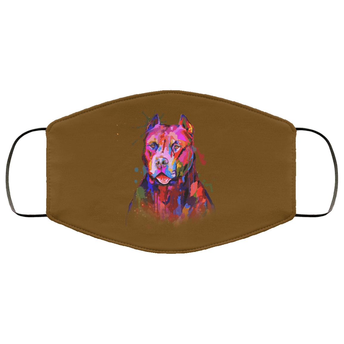 Hand painted pitbull human Face Mask