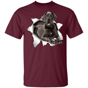 GREAT DANE 3D Princess 5.3 oz 100% Cotton T-Shirt