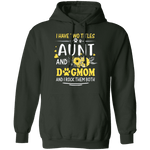 I HAVE TWO TITLES AUNT AND DOG-MOM LADIES Pullover Hoodie 8 oz.