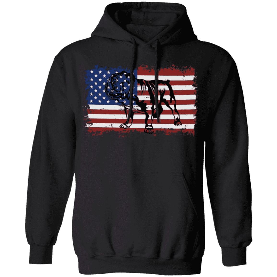 VINTAGE ENGLISH STYLE BULLDOG AMERICAN Pullover Hoodie 8 oz.