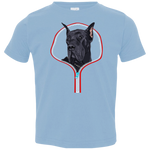 GREAT DANE ZIP-DOWN Toddler Jersey T-Shirt