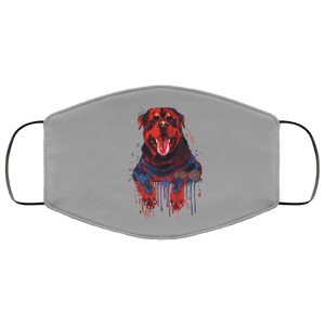 Hand painted rottweiler human Face Mask