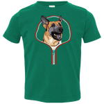 GERMAN SHEPARD ZIP-DOWN Toddler Jersey T-Shirt