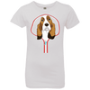 BASSET HOUND ZIP-DOWN Girls' Princess T-Shirt