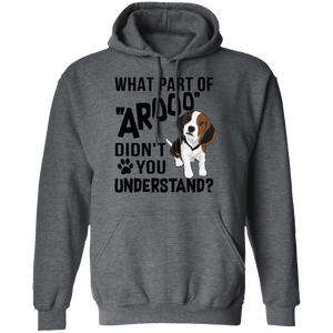 WHAT PART OF AROOO LADIES Pullover Hoodie 8 oz.