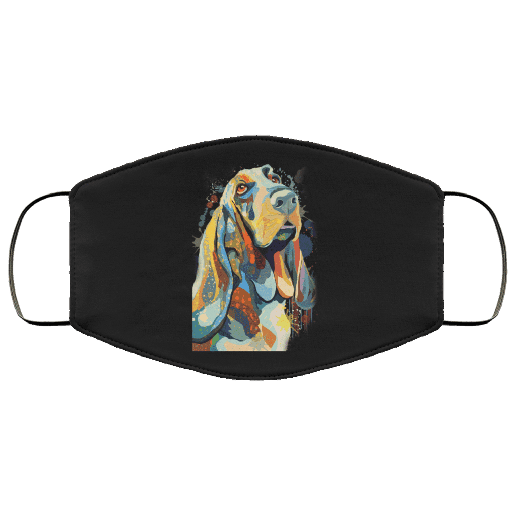 Hand painted bassethound human Face Mask