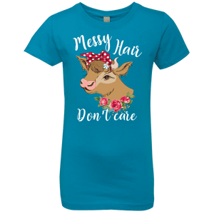 MESSY HAIR DON'T CARE Girls' Princess T-Shirt