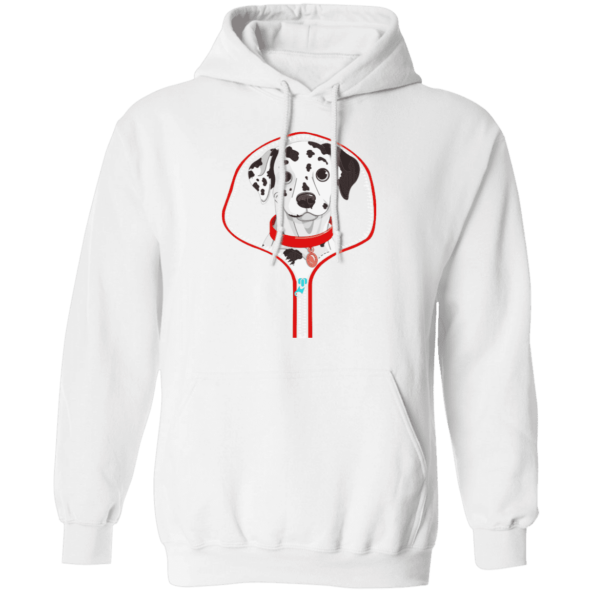 DALMATIAN ZIP-DOWN LADIES Pullover Hoodie 8 oz.