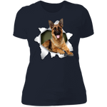 GERMAN SHEPARD 3D Ladies' Boyfriend T-Shirt