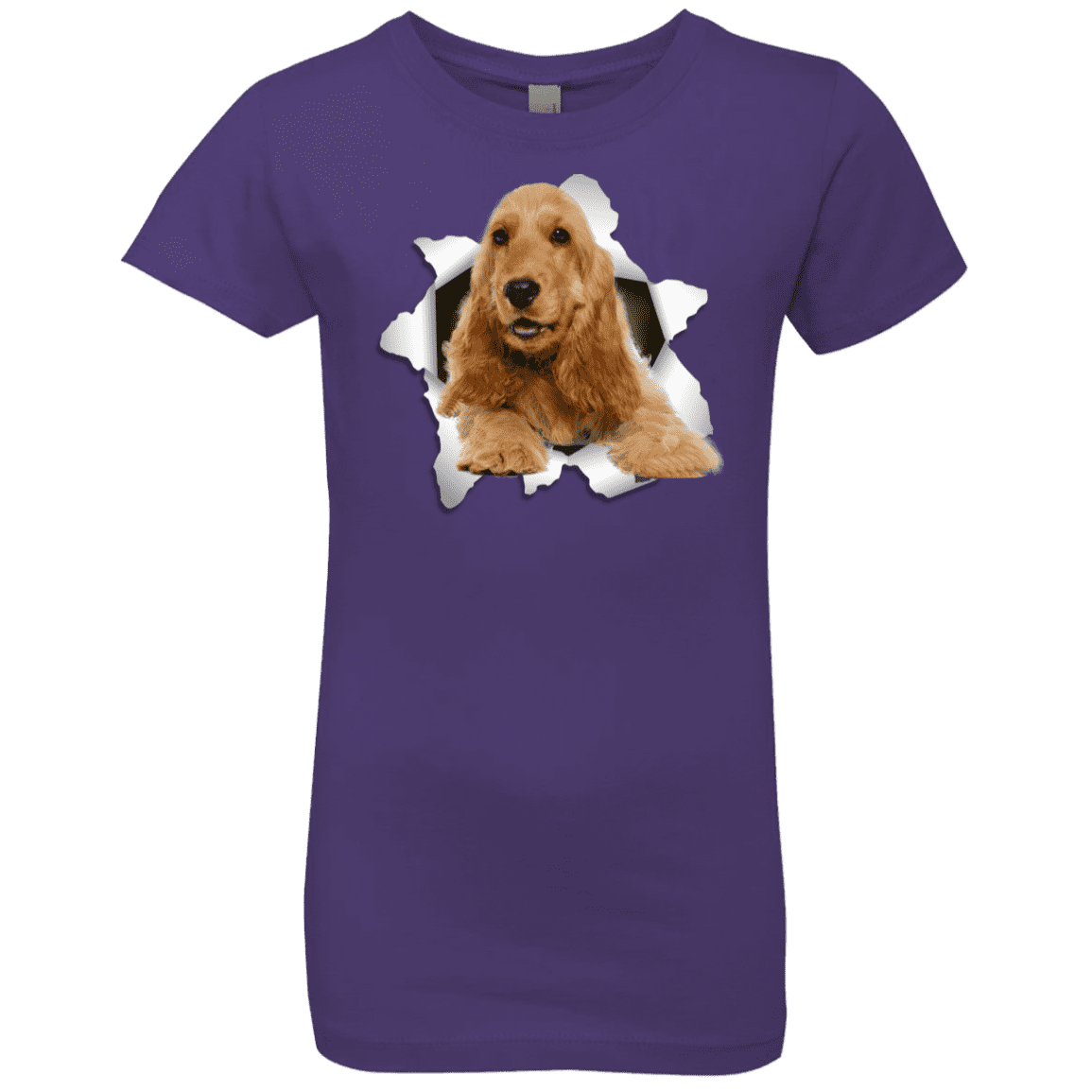 ENGLISH COCKER 3D Girls' Princess T-Shirt