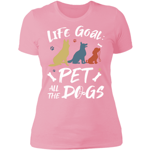 PET ALL THE DOGS Ladies' Boyfriend T-Shirt