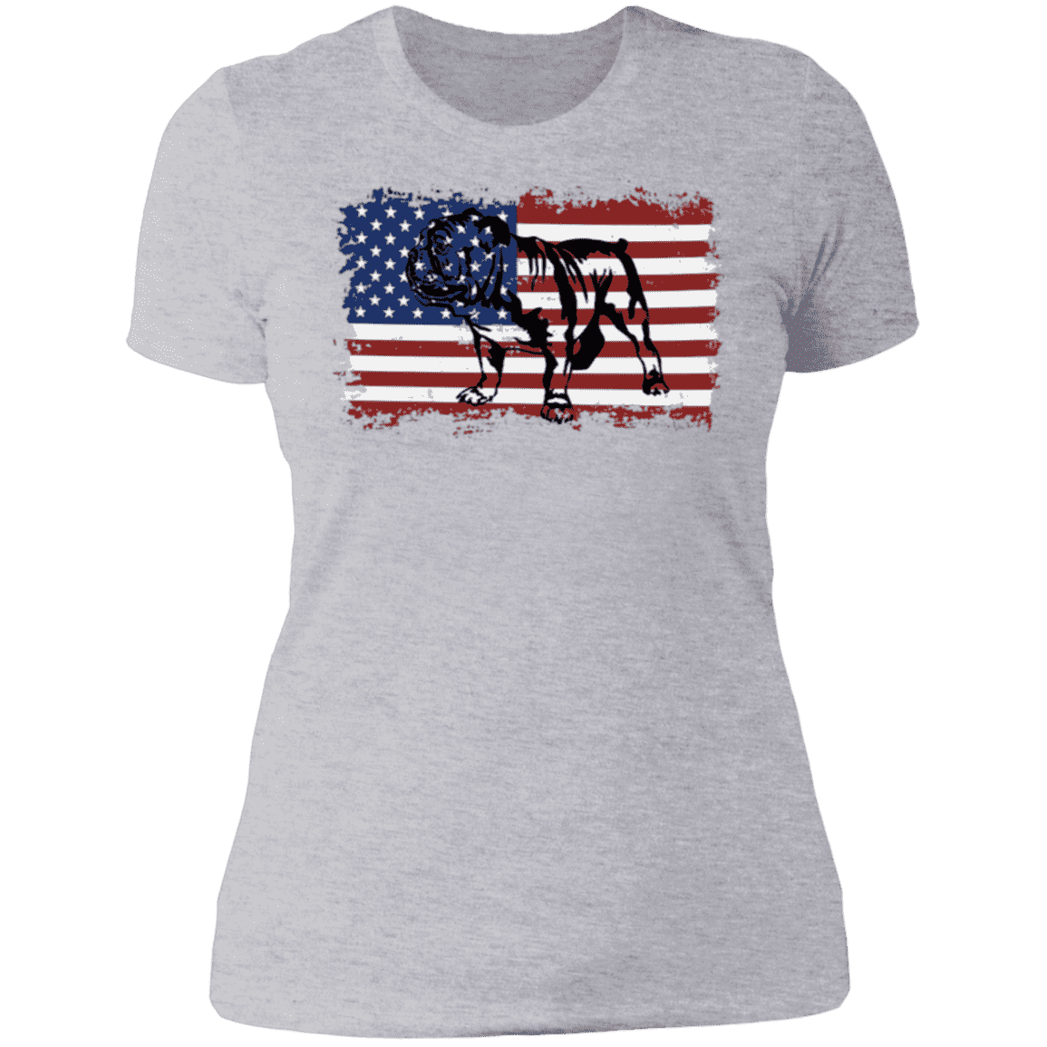 VINTAGE ENGLISH BULLDOG AMERICAN Ladies' Boyfriend T-Shirt
