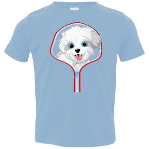 MALTESE ZIP-DOWN Toddler Jersey T-Shirt