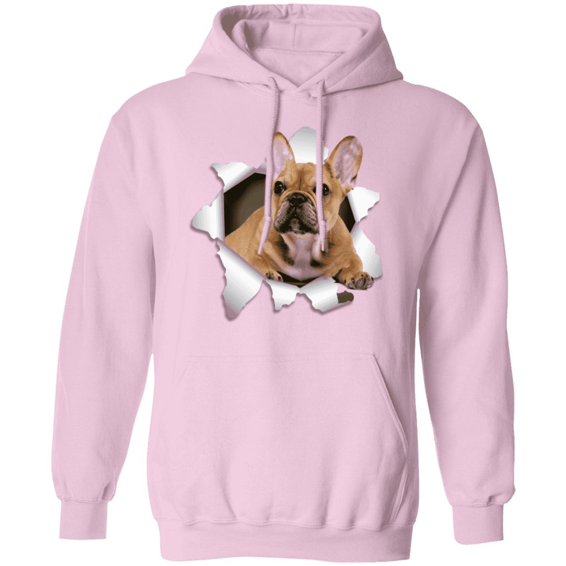 FRENCH BULLDOG 3D LADIES Pullover Hoodie 8 oz.
