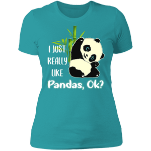 I JUST REALLY LIKE PANDAS Ladies' Boyfriend T-Shirt