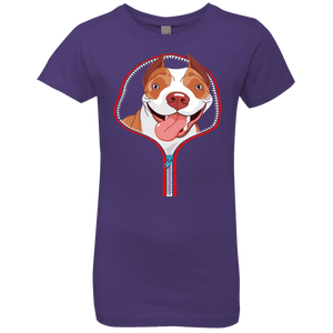 PITBULL ZIP-DOWN Girls' Princess T-Shirt