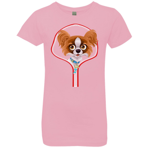 PAPILLION ZIP-DOWN Girls' Princess T-Shirt